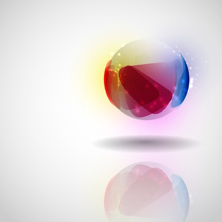 Sphere glass ball.  photo