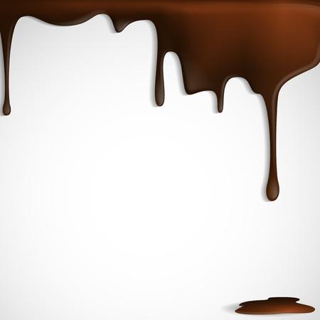 chocolate syrup: Chocolate derretido gotea.