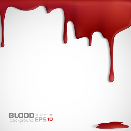 blood stain: Dripping blood