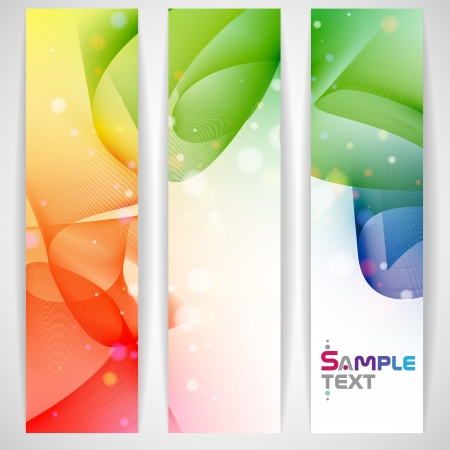 Colorful abstract banner   Иллюстрация