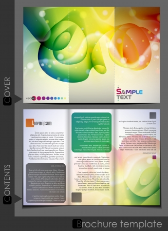 magazine template: Brochure template design