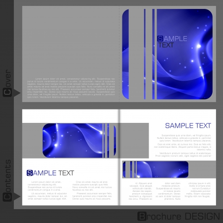 magazine template: Brochure template design.