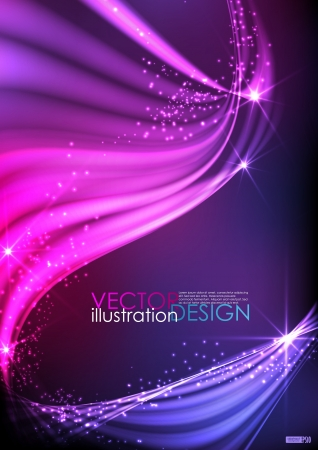 Abstract neon waves  illustration   Vector