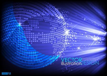 Abstrakte Planeten Hintergrund Vektor-Illustration Standard-Bild - 20058259