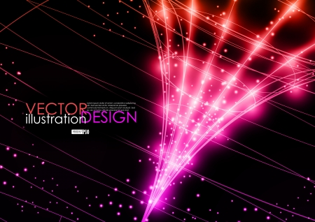 Neon technology background  Vector illustration   Vector