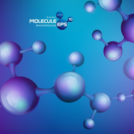 3d molecule background. Vector illustration.  Stock Vector - 20189816
