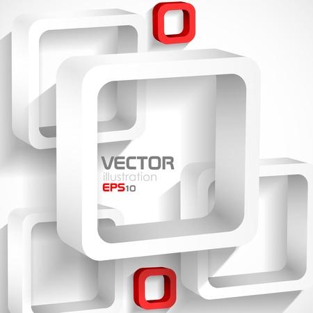 White squares. Vector illustration.  Illustration