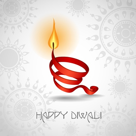rama: Happy diwali. Vector illustration.