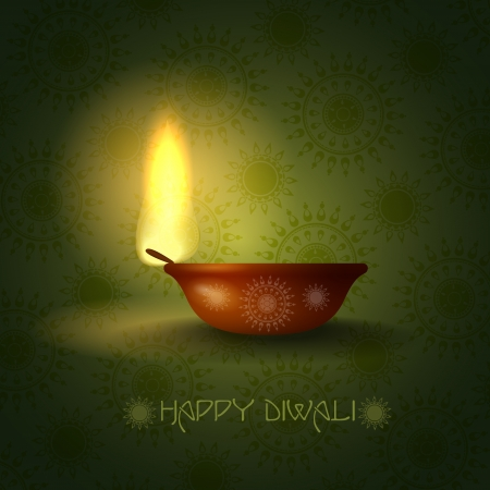 Happy diwali. Vector illustration.  Stock Vector - 20192393