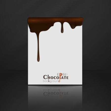 녹은 초콜릿 떨어지는