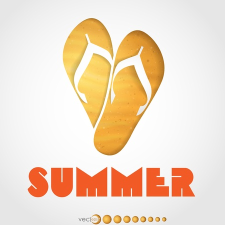 Summer slipper   Vector