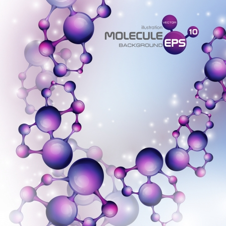 3d molecule background