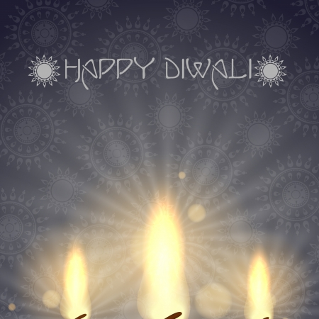 Happy diwali   Stock Vector - 20814185