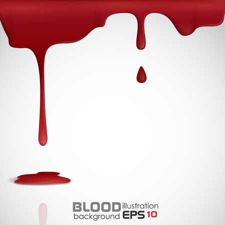 Dripping blood   Vector
