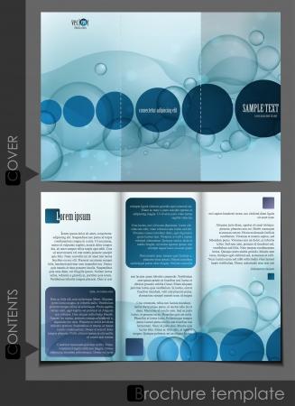 bijsluiter: Bubble brochure ontwerp sjabloon Stock Illustratie