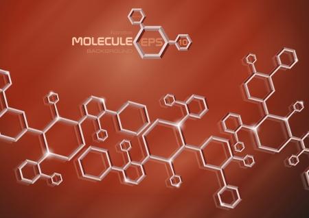 Molecule background Stock Vector - 20814239