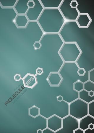 Molecule Hintergrund Vektor-Illustration Standard-Bild - 20992393