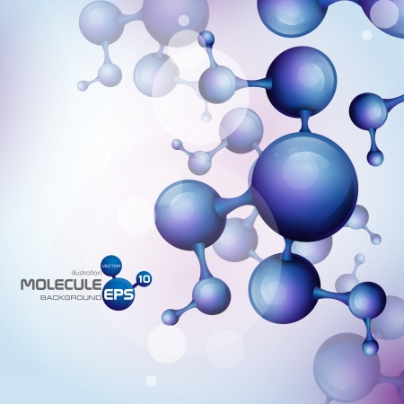 molecule background: 3d molecule background  Vector illustration
