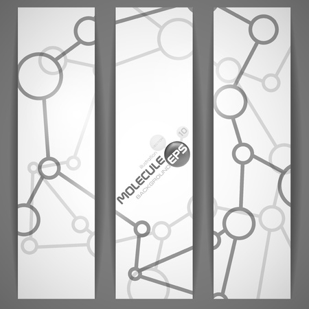 Molecules banner   Vector illustration   Vector