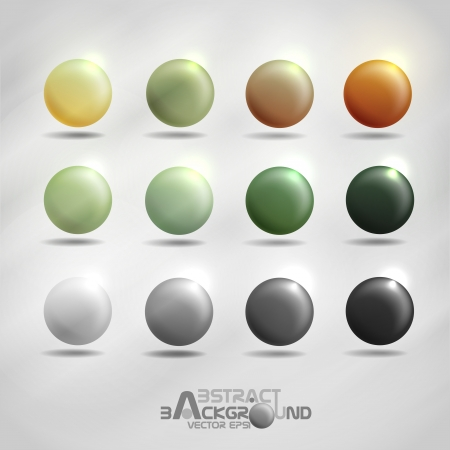 Colorful round buttons   Vector illustration   Vector