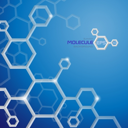 Molecule background   Vector illustration   Иллюстрация