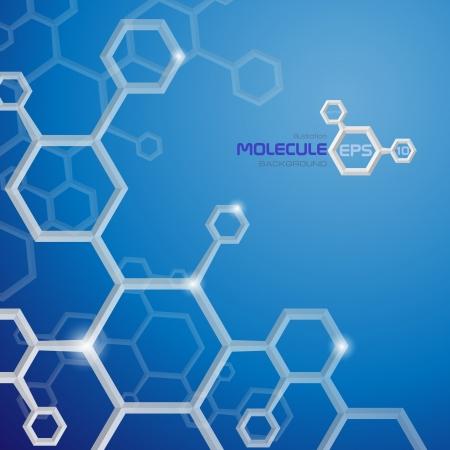 Molecule Hintergrund Vektor-Illustration Standard-Bild - 20992710