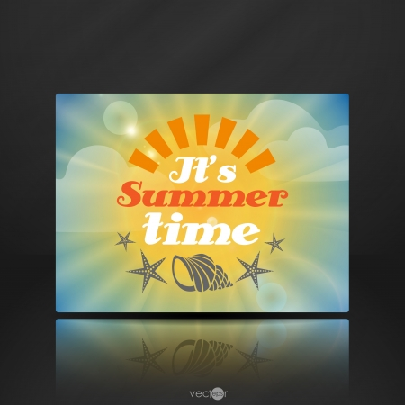 Summer Time   Vector illustration   Vector