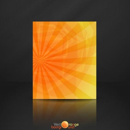 funky background: Orange banner   Vector illustration
