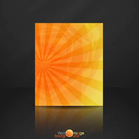 Orange banner   Vector illustration