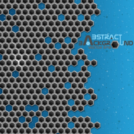 Hexagon métal arrière-plan Vector illustration