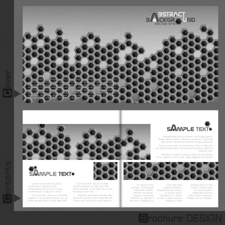 Brochure template design   Vector illustration