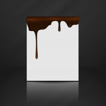Melted chocolate dripping   photo