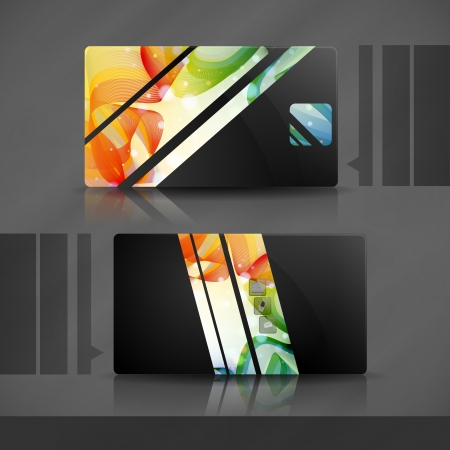 Colorful business card   photo