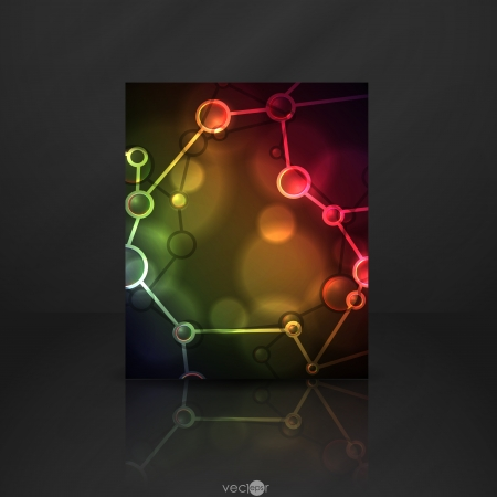 Neon molecule illustration    Stock Illustration - 20992870