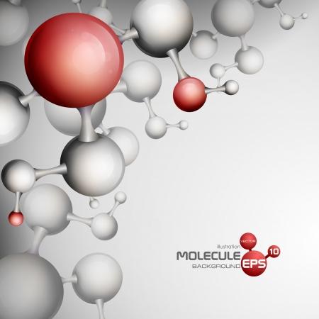 3 차원 분자 배경입니다. 벡터 일러스트 레이 션. eps 10입니다.