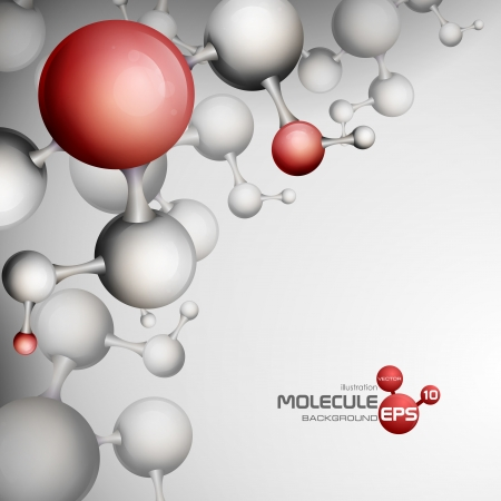 3d Molecule Background. Vector Illustration. Eps 10.