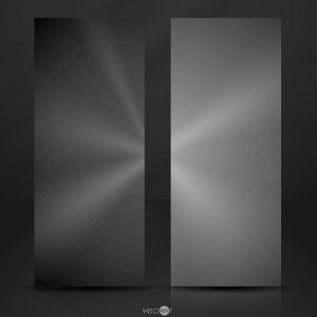 Metal Texture Banner. Vector Illustration. Eps 10. Vector