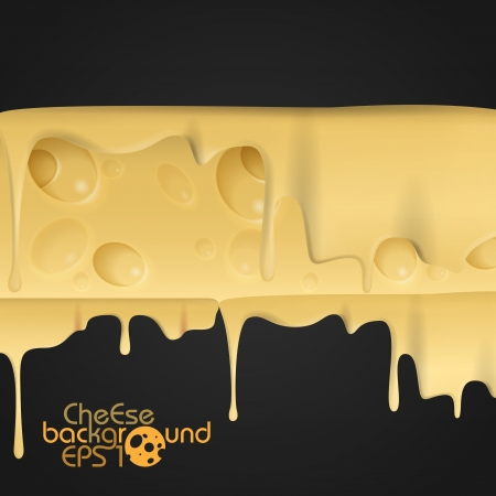 melted cheese: Yellow Cheese Background. Vector Illustration. Eps 10.