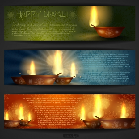 Happy Diwali Background. Vector Illustration. Eps 10. Vector