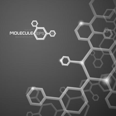 Molecule Hintergrund. Vektor-Illustration. Eps 10. Standard-Bild - 23163290