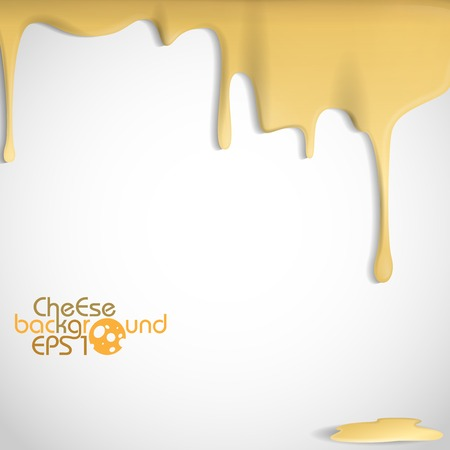 Fondo amarillo Queso. Ilustración vectorial. Eps 10.