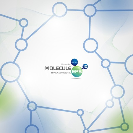 Molecule Abstract Background.  Vector Illustration. Eps 10.