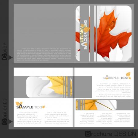 leaflet design: Brochure Template Design.  Vector Illustration. Eps 10.