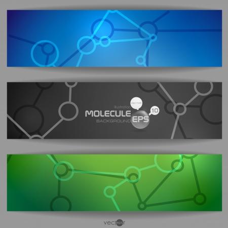 Molecule Abstract Banner.  Vector Illustration. Eps 10. Vector
