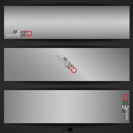 silver plate: Metal Texture Banner. Vector Illustration. Eps 10.