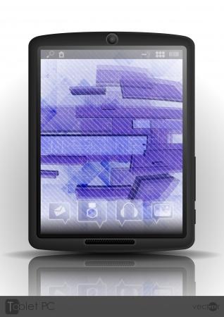 Tablet Pc & Mobile Phone. Vector Illustration. Eps 10. Stock Vector - 23163510