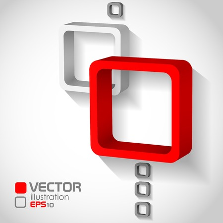 Abstract Squares Background . Vector illustration. Eps 10. Illustration