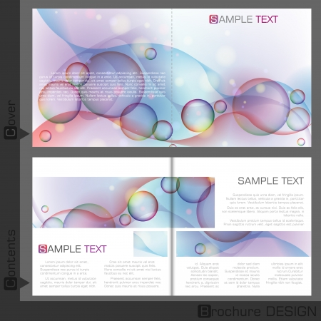 Broschüre Template Design. Vektor-Illustration. Eps 10. Standard-Bild - 23163590