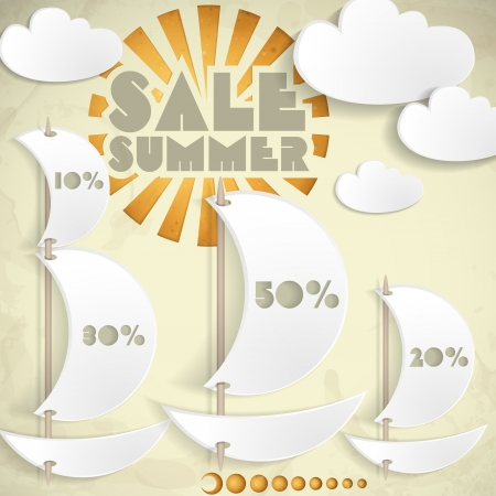 Summer Sale. Business Background. photo