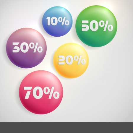 Sale Buttons With Discount. photo